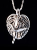 Monstera Leaf with Jungle Jewel Bird of Paradise Charm in Silver