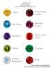 Gemstone Options Chart for 14K Large Skull Ring