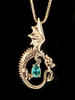 Oracle Dragon Pendant with Appetite in 14K Gold