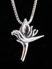 Jungle Jewel Bird of Paradise Charm in Silver