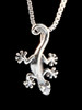 Jungle Jewel Gecko Charm in Silver