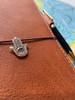 Hamsa Hand Traveler Notebook Charm in Silver