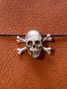 Skull and Crossbones Traveler's Notebook Charm in Silver