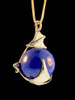 Bat Orb with Lapis Lazuli in 14K Gold