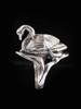 Swan Ring in Silver