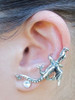 Dragon Ear Climber Cuff in Silver