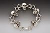 Skull And Crossbone Bracelet in Silver