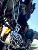 Sterling Silver Large Octopus Pendant at Beach