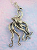 Sterling Silver Large Octopus Pendant