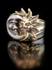Gold and Silver Eclipse Ring - Silver and 14k Gold