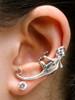 Gecko Ear Climber Cuff - Silver