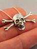 Skull and Crossbones Pendant - Silver
