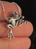 Tree Frog Pendant in Silver