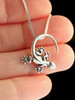 Rainforest Gecko Charm in Silver
