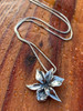 Orchid Charm in Silver