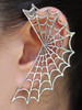 Spider Web Ear Wrap - Silver