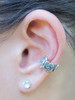 Rose Ear Cuff in Silver