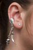 Skull and Scimitar Ear Cuff Silver