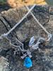 Eternity Dragon with Blue Topaz - Silver