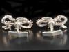 Infinity Dragon Cufflinks - Silver