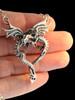 Dragon Heart Pendant with Figero Chain