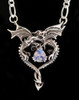 Dragon Heart Pendant with Rainbow Moonstone