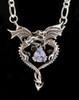 Dragon Heart Pendant with Rainbow Moonstone