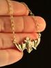 Gold Flying Bat Pendant - 14k Gold