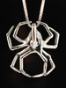 Large Spider Pendant - Silver