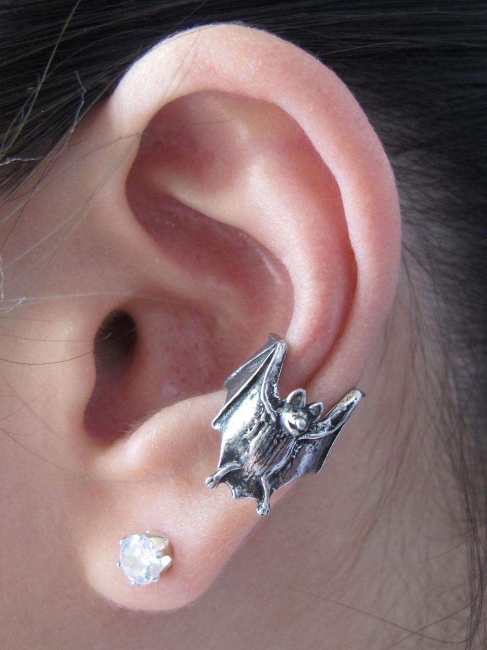 Pewter Bat Ear Cuff