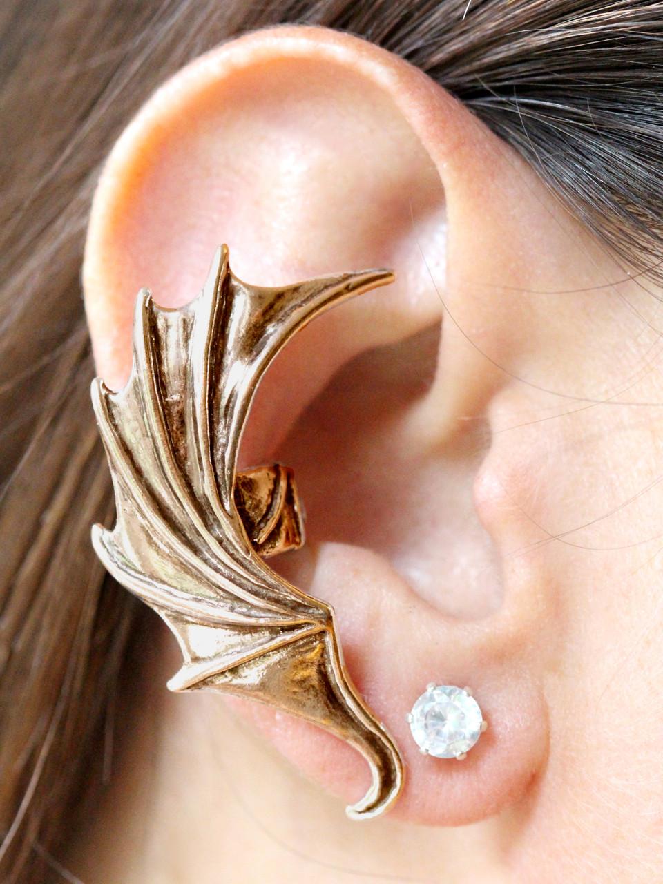 a61c7d847 Dragon Wing Ear Cuff - Bronze - Marty Magic Store