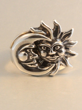 Eclipse Ring in sterling silver