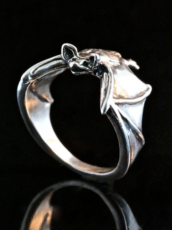 Classic Bat Ring - Silver