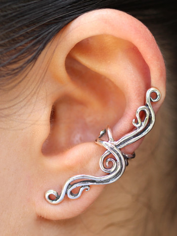 French Twist Ear Cuff in Silver