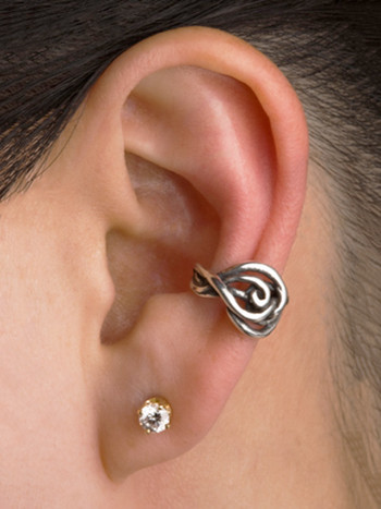 Twisted Ear Cuff in Silver