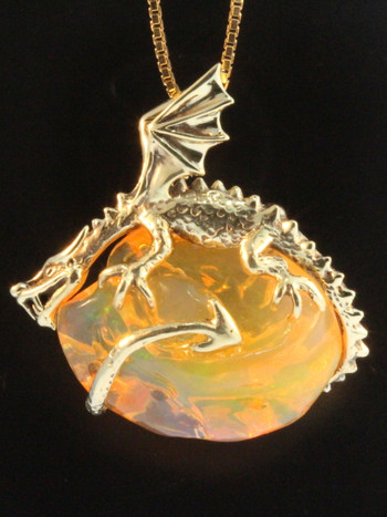 Vortex Opal Dragon Pendant - SOLD