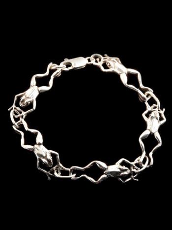 Frog Kick Bracelet - 5 Link - Silver
