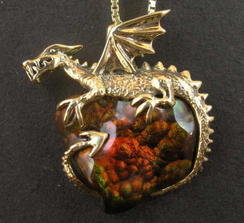 Fire Pool Dragon Pendant - SOLD