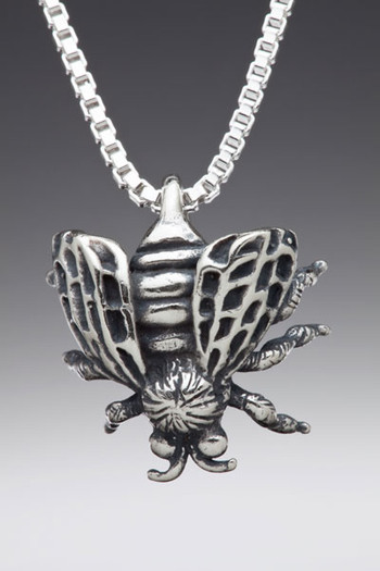 Honey Bee Charm in Silver