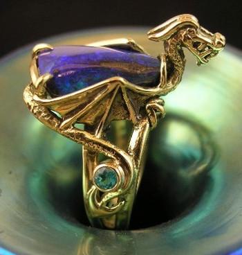 Azuel Opal Dragon Ring - SOLD