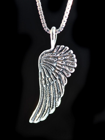 Guardian Angel Wing Charm - Silver