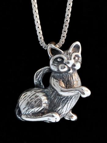 Edward Lear Poem - P-Cat Charm - Silver