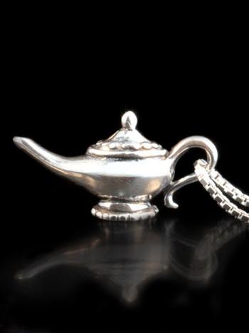 Arabian Nights - Magic Lamp Charm - Silver