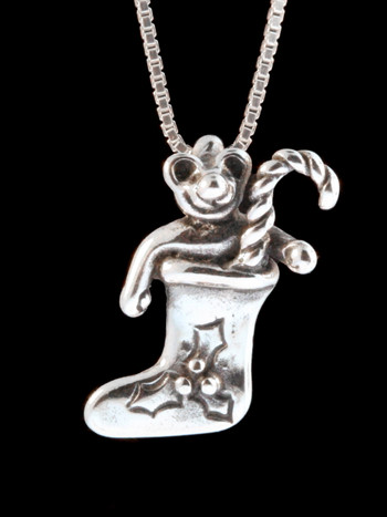Christmas - Stocking Teddy Bear Charm