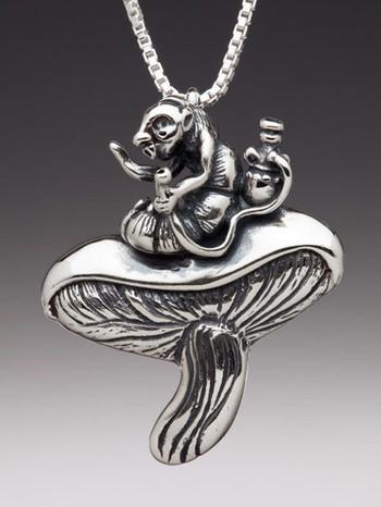 Hookah the Smoking Caterpillar in Silver