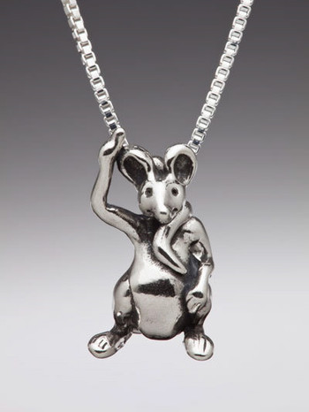 Alice - Door Mouse Charm - Silver