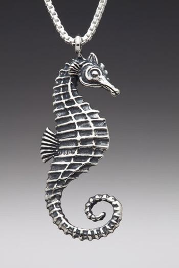 Sea Life - Seahorse Charm - Silver