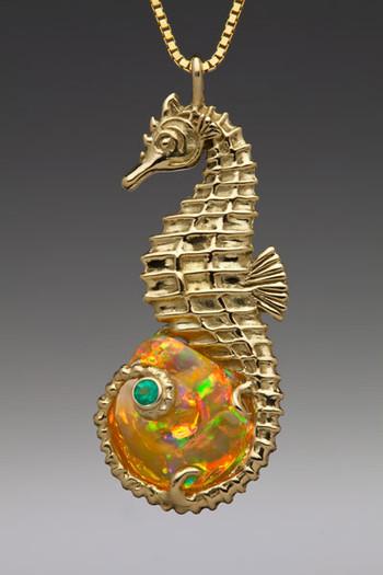 Seahorse Opal Treasure Pendant_SOLD