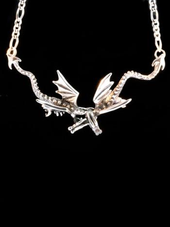 Eternity Dragon Neckpiece -Silver