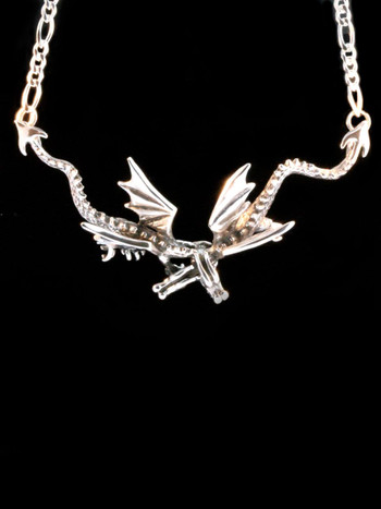 Eternity Dragon Neckpiece -Silver